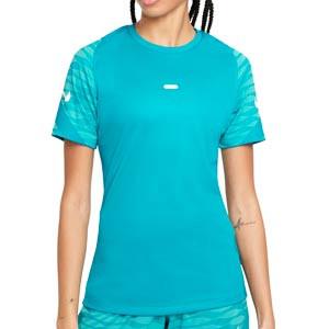 Camiseta Nike Dri-Fit Strike 21 mujer - Camiseta de entrenamiento de fútbol para mujer Nike - azul turquesa - frontal