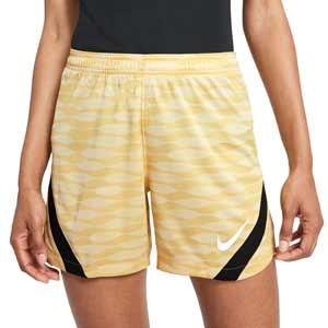 Short Nike Dri-Fit Strike 21 mujer - Pantalón corto de mujer para entrenamiento de fútbol Nike - dorado - frontal