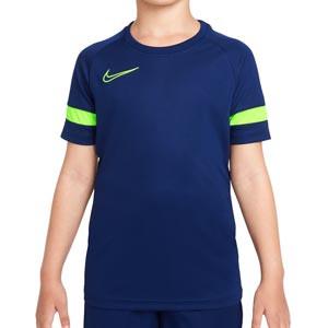 Camiseta Nike Dri-Fit Academy 21 niño - Camiseta de manga corta infantil para entrenamiento de fútbol Nike - azul marino