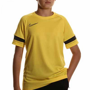 Camiseta Nike Dri-Fit Academy 21 niño - Camiseta de manga corta infantil para entrenamiento de fútbol Nike - amarilla