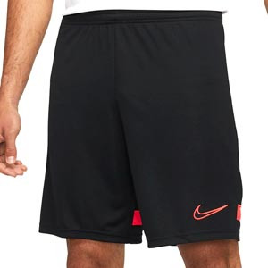 Short Nike Dri-Fit Academy 21 - Pantalón corto de entrenamiento de fútbol Nike - negro, rojo