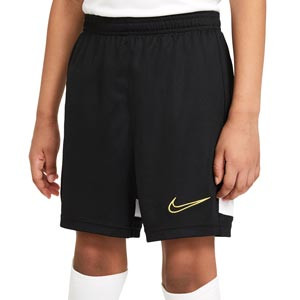 Short Nike Dri-Fit Academy 21 niño - Pantalón corto de entrenamiento de fútbol infantil Nike - negro - frontal