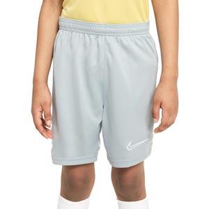 Short Nike Dri-Fit Academy 21 niño - Pantalón corto de entrenamiento de fútbol infantil Nike - gris - frontal