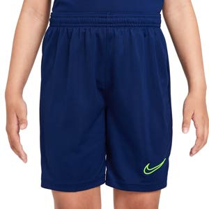 Short Nike Dri-Fit Academy 21 niño - Pantalón corto de entrenamiento de fútbol infantil Nike - azul marino
