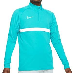Sudadera Nike Dri-Fit Academy 21 - Sudadera de entrenamiento de fútbol Nike - azul celeste - frontal