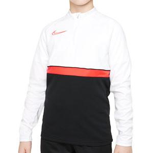 Sudadera Nike Dri-Fit Academy 21 niño - Sudadera de entrenamiento de fútbol infantil Nike - negra, blanca