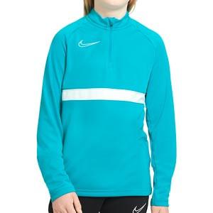 Sudadera Nike Dri-Fit Academy 21 niño - Sudadera de entrenamiento de fútbol infantil Nike - azul celeste - frontal