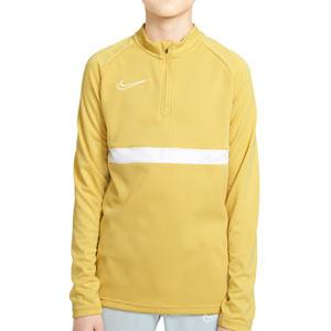 Sudadera Nike Dri-Fit Academy 21 niño - Sudadera de entrenamiento de fútbol infantil Nike - dorada - frontal