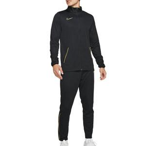 Chándal Nike Dri-Fit Academy 21 - Chándal de entrenamiento de fútbol Nike de la colección Joga Bonito - negro - frontal
