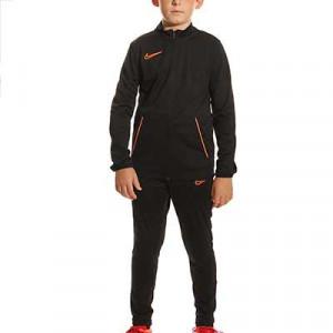 Chándal Nike Dri-Fit Academy 21 niño - Chándal infantil de entrenamiento de fútbol Nike - negro, naranja