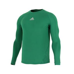 Camiseta compresiva M/L adidas Alphaskin - Camiseta entrenamiento compresiva manga larga adidas Alphaskin - Verde - frontal