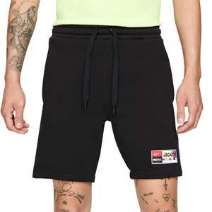 Short Nike FC Fleece - Pantalón corto de algodón Nike de la colección Joga Bonito - negro - frontal
