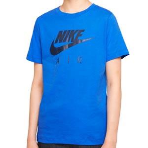 Camiseta Nike Air Sportswear niño - Camiseta de manga corta infantil de algodón Nike para calle - azul