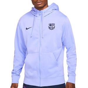 Sudadera Nike Bracelona Club Hoodie - Sudadera con capucha de algodón Nike del FC Barcelona - lila