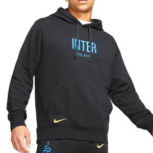 Sudadera Nike Inter Fleece Hoodie - Sudadera con capucha de algodón Nike del Inter de Milán - negra