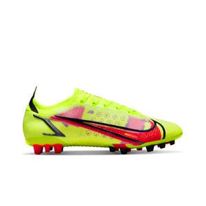 Nike Mercurial Vapor 14 Elite AG - Botas de fútbol Nike AG para césped artificial - amarillas flúor, rojas
