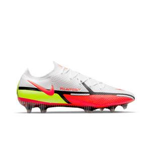 Nike Phantom GT2 Elite FG - Botas de fútbol Nike FG para césped natural o artificial de última generación - blancas, rojas