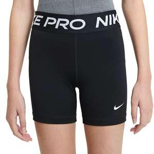 Mallas Nike Pro niña 8 cm - Malla corta compresiva de niña para fútbol Nike - negra