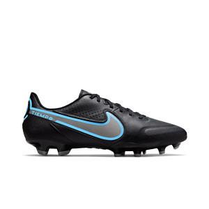 Nike Tiempo Legend 9 Academy FG/MG - Botas de fútbol de piel Nike FG/MG para césped artificial - negras
