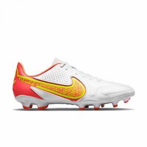 Nike Tiempo Legend 9 Club FG/MG - Botas de fútbol Nike FG/MG para césped artificial - blancas, amarillas flúor