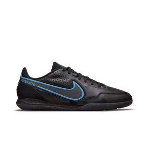 Nike Tiempo React Legend 9 Pro IC - Zapatillas de fútbol sala de piel Nike con suela lisa IC - negras