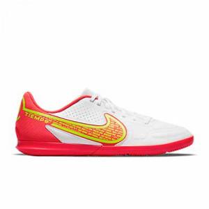 Nike Tiempo Legend 9 Club IC - Zapatillas de fútbol sala Nike suela lisa IC - blancas, amarillas flúor