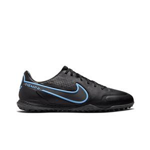 Nike Tiempo React Legend 9 Pro TF - Zapatillas de fútbol multitaco de piel Nike suela turf - negras