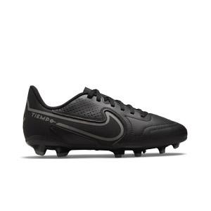 Nike Tiempo Jr Legend 9 Club FG/MG - Botas de fútbol infantiles Nike FG/MG para césped artificial - negras