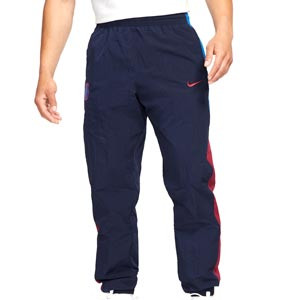 Pantalón Nike Barcelona Sportswear Woven - Pantalón largo de calle Nike del FC Barcelona - azul marino