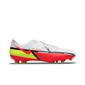Nike Phantom GT2 Academy FG/MG - Botas de fútbol Nike FG/MG para césped artificial - blancas, rojas