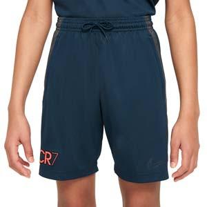 Short Nike CR7 niño Dri-Fit - Pantalón corto infantil Nike de Cristiano Ronaldo - azul marino