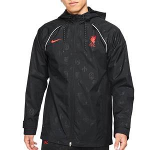 Cortavientos Nike Liverpool All Weather Fan - Chaqueta cortavientos Nike del Liverpool FC - negra