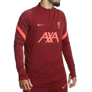Sudadera Nike Liverpool entrenamiento Dri-Fit Strike - Sudadera de entrenamiento Nike del Liverpool FC - granate - completa frontal