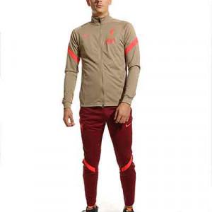 Chándal Nike Liverpool Dri-Fit Strike - Chándal Nike del Liverpool FC - marrón grisáceo