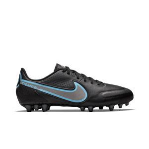 Nike Tiempo Legend 9 Academy AG - Botas de fútbol de piel Nike AG para césped artificial - negras