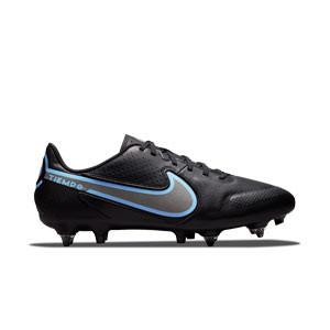 Nike Tiempo Legend 9 Academy SG-PRO AC - Botas de fútbol de piel Nike SG con tacos de alúminio para césped natural blando - negras