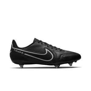 Nike Tiempo Legend 9 Club SG - Botas de fútbol Nike SG con tacos de alúminio para césped natural blando - negras