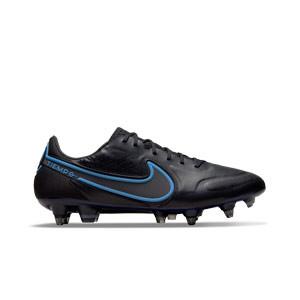 Nike Tiempo Legend 9 Elite SG-PRO AC - Botas de fútbol de piel de canguro Nike SG con tacos de alúminio para césped natural blando - negras