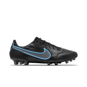 Nike Tiempo Legend 9 Elite AG-PRO - Botas de fútbol de piel de canguro Nike AG-PRO para césped artificial - negras