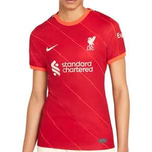 Camiseta Nike Liverpool 2021 2022 mujer Dri-Fit Stadium - Camiseta mujer primera equipación Nike Liverpool FC 2021 2022 - roja - frontal