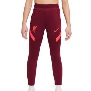 Pantalón Nike Liverpool entreno niño Dri-Fit Strike - Pantalón largo de entrenamiento infantil Nike del Liverpool FC - granate - frontal