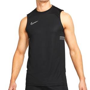 Camiseta tirantes Nike Dri-Fit Academy 21 - Camiseta sin mangas de entrenamiento de fútbol Nike - negra - frontal
