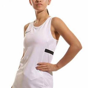 Camiseta tirantes Nike Dri-Fit Academy 21 mujer - Camiseta sin mangas de entrenamiento de fútbol para mujer Nike - blanca