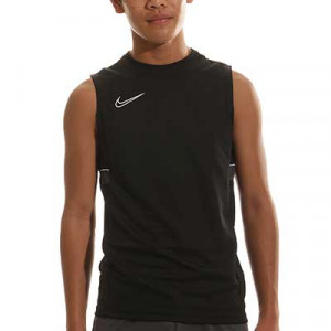 Camiseta tirantes Nike Dri-Fit Academy 21 niño - Camiseta sin mangas infantil de entrenamiento de fútbol Nike - negra