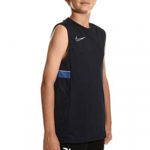 Camiseta tirantes Nike Dri-Fit Academy 21 niño - Camiseta sin mangas infantil de entrenamiento de fútbol Nike - azul marino - miniatura