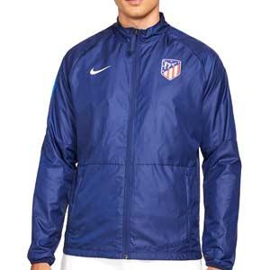 Chubasquero Nike Atlético Repel Academy All Weather Fan - Chubasquero Nike del Atlético de Madrid - azul marino - frontal