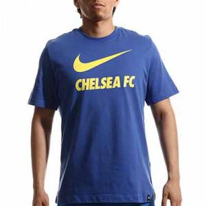 Camiseta Nike Chelsea Swoosh Club - Camiseta de algodón Nike del Chelsea FC - azul - completa frontal