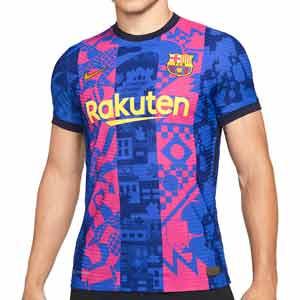Camiseta Nike 3a Barcelona 2021 2022 Dri-Fit ADV Match - Camiseta auténtica tercera equipación Nike del FC Barcelona 2021 2022 - azul, rosa