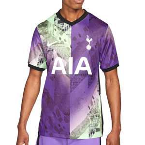 Camiseta Nike 3a Tottenham 2021 2022 Dri-Fit Stadium - Camiseta tercera equipación Nike Tottenham Hotspur 2021 2022 - lila, amarilla flúor