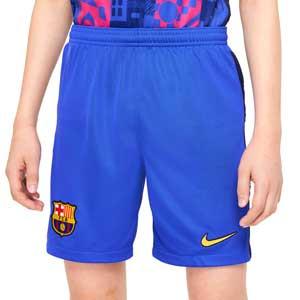 Short Nike Barcelona 3a 2021 2022 niño Dri-Fit Stadium - Pantalón corto tercera equipación infantil Nike del FC Barcelona 2021 2022 - azul